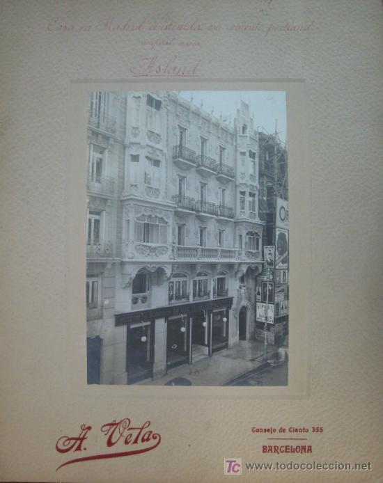 CASA EN MADRID CONSTRUIDA CON CEMENTO PORTLAND ARTIFICIAL MARCA 'ASLAND'. (FOT. A. VELA.) (Fotografía Antigua - Albúmina)