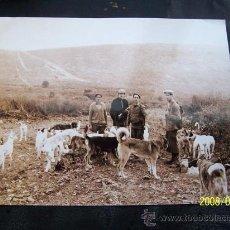 Fotografía antigua: FOTOGRAFÍA ( COPIA ) DE CAZADORES - MEDIDAS: 23 X 29 CM.. Lote 16143587