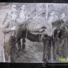 Fotografía antigua: FOTOGRAFÍA ( COPIA ) DE CAZADORES - MEDIDAS: 23 X 29 CM.. Lote 16143590