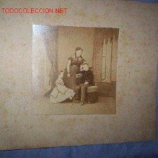 Fotografía antigua: GRAN FOTO DE GRUPO FAMILIAR C. 1860 ESPAÑA. Lote 25512277