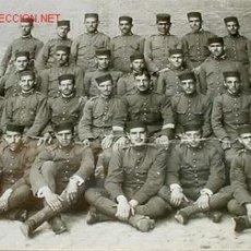 Fotografía antigua: ANTIGUA FOTOGRAFIA DE SOLDADOS ESPAÑOLES - POSIBLEMENTE GUERRA DE AFRICA - MIDE 24 X 19 CMS. CON PAS. Lote 19092730
