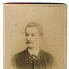 Fotografía antigua: FOTOGRAFIA ALBUMINA DE CABALLERO S XIX - FOT.: H.HERDEN. Lote 27067058