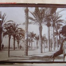 Fotografía antigua: ALICANTE - 3 ALBUMINAS DE 1900 - PUERTO DE ALICANTE - EN LA VISITA DE ALFONSO XIII. Lote 26992797