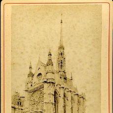 Fotografía antigua: 2 ANTIGUAS FOTOGRAFIAS. FORMATO CABINET. ALBÚMINA. LA SAINTE CHAPELLE A PARIS. Lote 27268389
