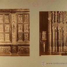 Fotografía antigua: TOLEDO.DETALLE INTERIOR DE CATEDRAL 2 ALBÚMINAS.FOTÓGRAFO: ALGUACIL.. Lote 17958533