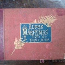 Fotografía antigua: LIBRO CON 24 ALBÚMINAS DE LOS ALPES MARÍTIMOS. CANNES, NICE, MONACO, MENTON. LITORAL MEDITERRANEO.. Lote 20498628