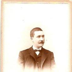 Fotografía antigua: FOTOGRAFIA ALBUMINA PEGADA EN CARTON FOTOGRAFO TORRES REUS TARRAGONA . Lote 10597926