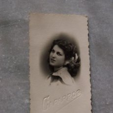 Fotografía antigua: ANTIGUA FOTOGRAFÍA( 8.5 X 4.5 CM)-FOTÓGRAFO: CAPARROS-. Lote 19025600