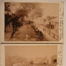 Fotografía antigua - 2 FOTOGRAFÍAS DE UN ENTIERRO. - 23836271