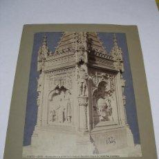 Fotografía antigua: LAURENT. FOTOGRAFÍA MADRID 2662. MONUMENTO A LA MEMORIA DE COLÓN EN RECOLETOS. MEDIDAS 25 X 34.. Lote 24159414
