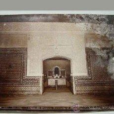 Fotografía antigua: ANTIGUA FOTOGRAFIA ALBUMINA DE SEVILLA - CASA DE PILATOS, ENTRADA AL ORATORIO - FOTO LINARES - MIDE . Lote 13799666