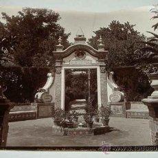 Fotografía antigua: ANTIGUA FOTOGRAFIA ALBUMINA DE SEVILLA - JARDINES DE MURILLO - GLORIETA GARCIA RAMOS - FOTO LINARES . Lote 26563370