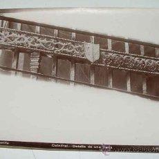 Fotografía antigua: ANTIGUA FOTOGRAFIA ALBUMINA DE SEVILLA - DETALLE DE UNA VERJA - FOTO LINARES - MIDE 24 X 18 CMS.. Lote 26406845
