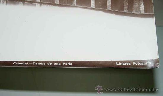 Fotografía antigua: ANTIGUA FOTOGRAFIA ALBUMINA DE SEVILLA - DETALLE DE UNA VERJA - FOTO LINARES - MIDE 24 X 18 CMS. - Foto 2 - 26406845
