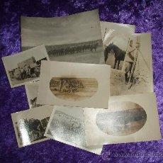 Fotografía antigua: LOTE DE 10 FOTOS DE MANIOBRAS MILITARES PRINCIPIOS DE SIGLO. Lote 11467912