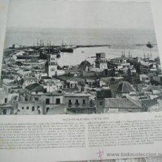 Fotografía antigua: AÑO 1896 * PUERTO DE ALICANTE Y SAN SEBASTIAN DE GOMERA * LAMINA FOTO S/ PAPEL * 25 X 20 CM. Lote 24257746