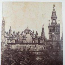 Fotografía antigua: SEVILLA. VISTA EXTERIOR DE LA CATEDRAL, 1858 APROX. FOTOGRAFÍA DE CHARLES CLIFFORD. 37,5 X 28 CM.. Lote 19482581