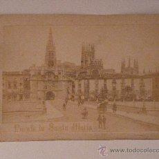 Fotografía antigua: BURGOS.PUENTE DE SANTA MARÍA. ALBÚMINA. C. 1870-80'. Lote 24618388
