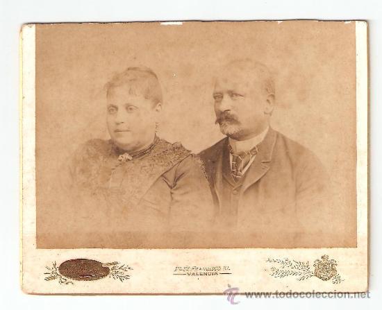 FOTOGRAFO ANTONIO GARCIA PERIS (1841 - 1918) SUEGRO DE JOAQUIN SOROLLA. VER REVERSO (Fotografía Antigua - Albúmina)