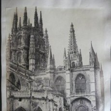 Fotografía antigua: 2 ALBÚMINAS : CATEDRAL DE BURGOS Y EL ESCORIAL. FOTÓGRAFO :LAURENT,C.1860-70' MADRID.. Lote 17177795