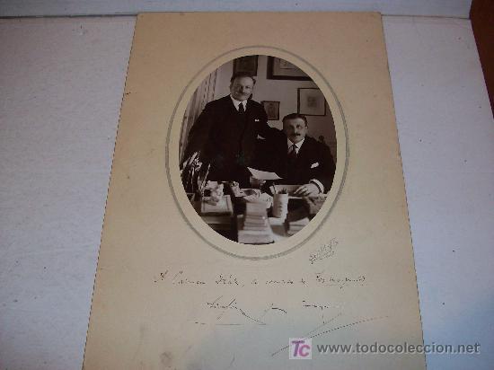Fotografía antigua: HERMANOS ALVAREZ QUINTERO ( Serafín y Joaquín ), Dedicatoria Autógrafa Orginal ¡ ver ! - Foto 3 - 26791511