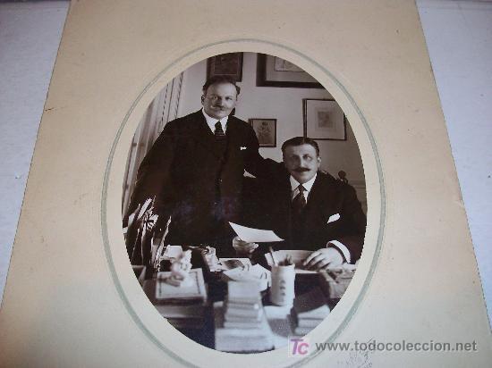 Fotografía antigua: HERMANOS ALVAREZ QUINTERO ( Serafín y Joaquín ), Dedicatoria Autógrafa Orginal ¡ ver ! - Foto 2 - 26791511