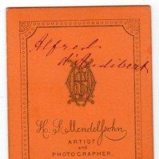Fotografía antigua: FOTOGRAFIA DE H.S. MENDELSOHN. NEWCASTLE ON TYNE. Lote 13641790