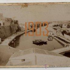 Fotografía antigua: MENORCA - CIUDADELA - 1903 . Lote 27395321