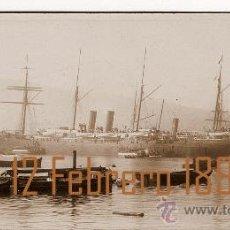 """Fotografía antigua: BARCELONA – CUBA- 1896 – VAPOR TRANSATLÁNTICO """"COLÓN"""" - TROPAS A CUBA. Lote 18645505"""
