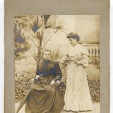Fotografía antigua: P.VINYALS 1905 RETRATOS EN JARDIN. Lote 14605913