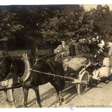 Fotografía antigua: REFUGIADOS 1914 CARRO FOTO 17X23 CM.. Lote 14605940
