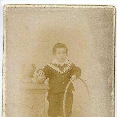 Fotografía antigua: NIÑOS CON JUGUETES FOTO CONSTANTINO GRACIA-ZARAGOZA REVERSO. Lote 14674224