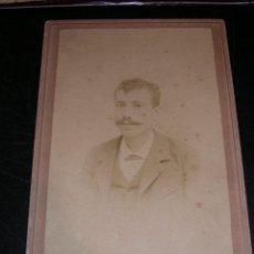 Fotografía antigua: ALBUMINA SOBRE CARTON DE EPOCA ,JULIO DERREY VALENCIA,25X16,5 CM.. Lote 14962657