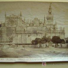 Fotografía antigua: SEVILLA - Nº 168 - PLAZA DEL TRIUNFO Y CATEDRAL - FOTOGRAFO: E. BEAUCHY - AÑO 1890 APROX.. Lote 26835544