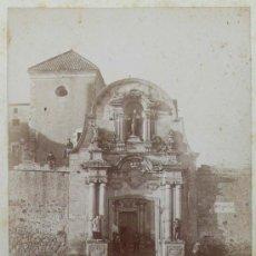 Fotografía antigua: CATALUÑA. IGLESIA POR IDENTIFICAR, 1890'S. 13,5X10 CM. SOPORTE: 25X16,5 CM. Lote 15549717