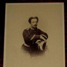 Fotografía antigua - ANTIGUA FOTOGRAFIA ALBUMINA DE MILITAR - AÑO 1860 APROX - MIDE 10,5 X 6 CMS. - 15903048