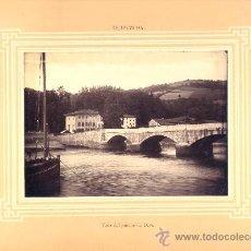 Fotografía antigua: FOTOGRAFÍA EN ALBÚMINA TOMADA ANTES DE 1896 TOMADA CON LA VISTA DE LA RÍA DE DEVA.. Lote 16655237