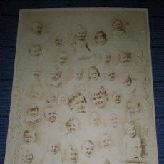 Fotografía antigua: 1880 FOTOGRAFIA ALBUMINA - MONTAJE CON NIÑOS INFANTIL - FOTO CHICAGO USA. Lote 17257008
