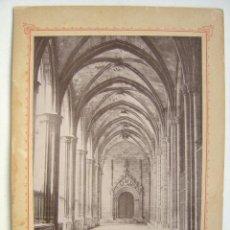 Fotografía antigua: ALBUMINA BARCELONA - AÑOS 1880-1890 - J. E. PUIG - CLAUSTROS CATEDRAL. Lote 17740982