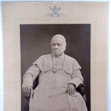 Fotografía antigua: RETRATO DEL PAPA PIO IX, AÑO 1878. FOTOGRAFÍA AL CARBÓN DE ADOLPH BRAUN. 54X70CM. TAMAÑO TOTAL.. Lote 19482764