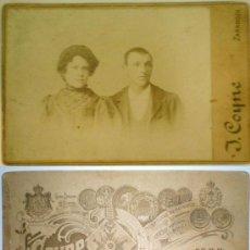 Fotografía antigua: FOTOGRAFÍA DE 1905. FOTÓGRAFO DE SSMM I. COYNE. ZARAGOZA. DIPLOMADO HONORÍFICO LONDRES 1902. Lote 26723019