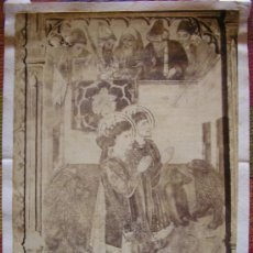 Fotografía antigua: FOTOGRAFIA ALBUMINA TERRASSA TARRASA RETABLO IGLESIA. Lote 18887289