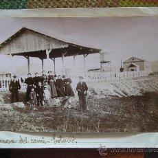 Fotografía antigua: FOTOGRAFIA ALBUMINA VILANOVA DEL CAMÍ ESTACIÓN FERROCARRIL. Lote 26465287