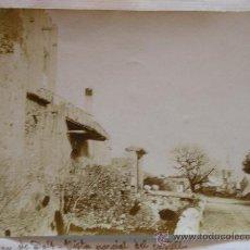 Fotografía antigua: FOTOGRAFIA ALBUMINA ALBUMINA VILASSAR DE DALT VISTA PARCIAL DEL CASTELL. Lote 26465289