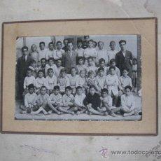 Fotografía antigua: ANTIGUA, FOTOGRAFIA DE COLEGIO, MAESTROS CON ALUMNOS. AÑOS 1930. INDUSTRIAS FOTOGRAFICA. VALENCIA.. Lote 19507656