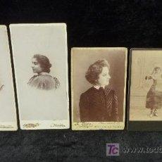 Fotografía antigua: LOTE DE 5 FOTOGRAFIAS ANTIGUAS DE RETRATOS FEMENINOS. S.XIX. TARRAGONA, VILAFRANCA, NEW YORK, MADRID. Lote 25989907