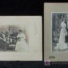 Fotografía antigua: 2 RETRATOS FAMILIARES ANTIGUOS. FOTOGRAFIAS DE PRINCIPIOS S.XX. BODA Y FAMILIA. ESTUDIO NAPOLEON,BCN. Lote 24326608