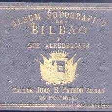 Fotografía antigua: AÑO 1895.- ÁLBUM FOTOGRÁFICO DE BILBAO Y SUS ALREDEDORES. EDITOR JUAN B. PATRÓN .-BILBAO. Lote 19800834