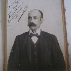 Fotografía antigua - fotografia antigua de señor,firmado, estudio fotografia moderna, gracia (sobre carton,20x25cm aprox) - 20338372