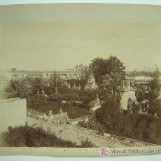 Fotografía antigua: SEVILLA, Nº 41 - VISTA GENERAL DE LOS JARDINES DEL ALCAZAR - E. BEAUCHY - AÑOS 1880-1890. Lote 26835554